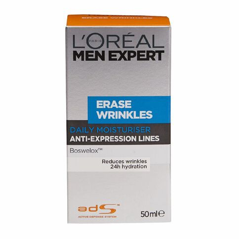 L'Oreal Paris Men Expert Erase Wrinkles Daily Moisturiser 50ml