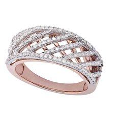 1/2 Carat of Diamonds 9ct Gold Diamond Cross Over Ring