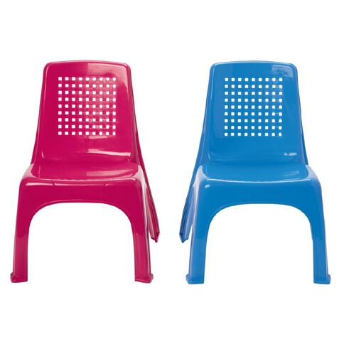 Childrens' Plastic Chair Assorted Colours Large