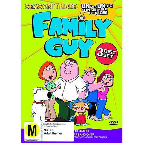 Family Guy Season 3 DVD 3Disc