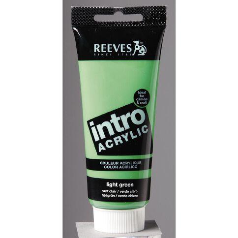 Reeves Intro Acrylic Light Green 100ml