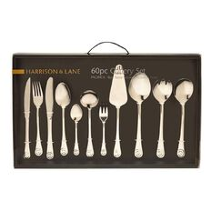 Harrison & Lane Pacifica Stainless Steel Cutlery 60 Piece