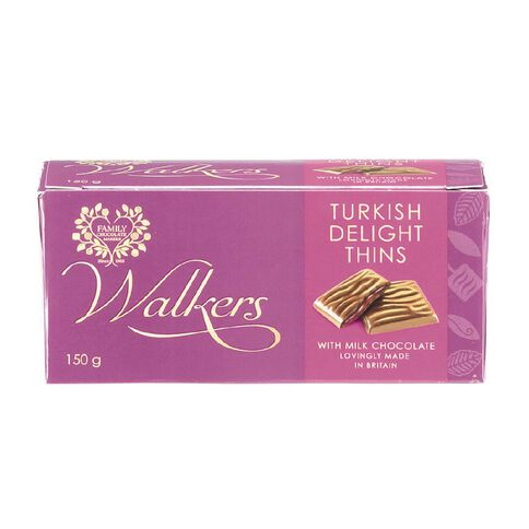 Walkers Turkish Delight Thins 150g