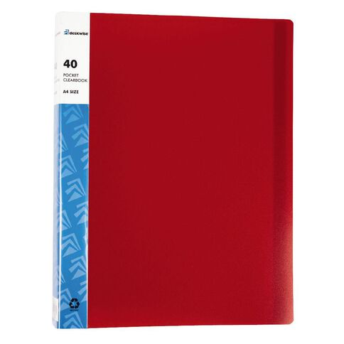 Deskwise Clearbook Red 40 Pages