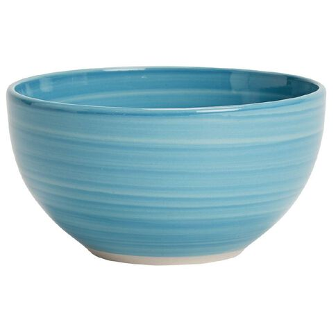 Living & Co Hand Painted Bowl Aqua 5.5 inch