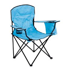 Necessities Brand Deluxe Camping Chair With Cooler Arm Assorted