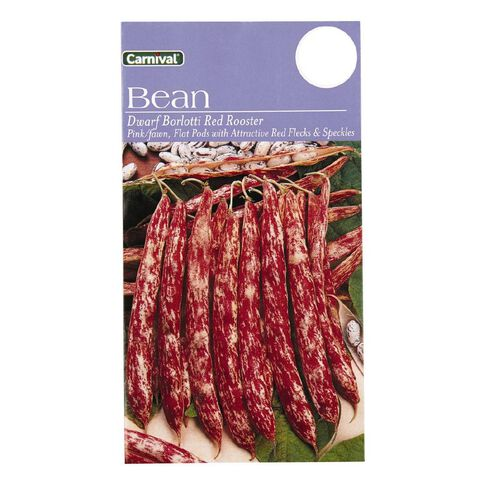 Carnival Seeds Beans Dwarf Barlotti Red Rooster