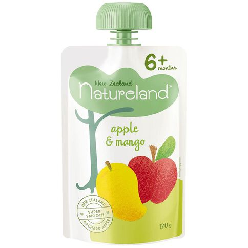 Natureland Apple & Mango Puree Pouch 120g