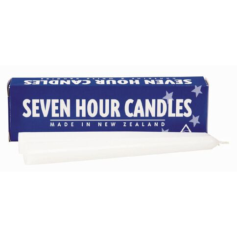 Seven Hour Candles 6 Pack White