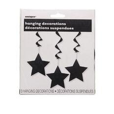 Unique Hanging Star Swirls Black 3 Pack