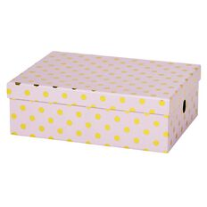 Stylo Happy Place Storage Box Gold Foil