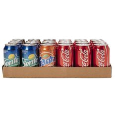 Coca Cola Can Mixed Tray 24 Pack