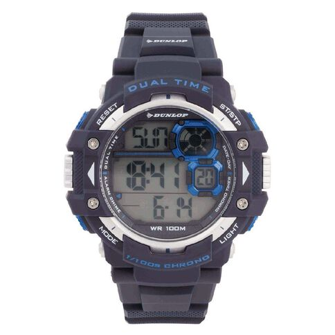 Dunlop Men's Digital Watch Black Blue