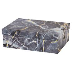 Stylo Marble Storage Box with Gold Foil