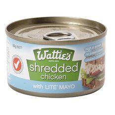 Wattie's Shredded Chicken Lite Mayo 85g