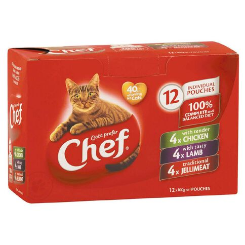 Chef Classic Loaf Variety Pouches 12 Pack