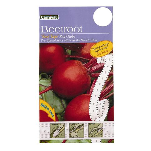Carnival Seeds Tape Beet Red Globe