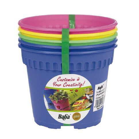 Baba Coloured Pot 5 Pack