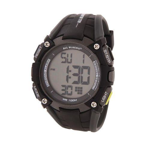 All Blacks Men's Multifunction LCD Watch Black