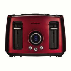 Kensington Toaster 4 Slice Digital Stainless Steel Red