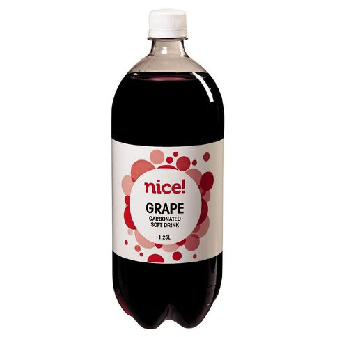 Nice Grape Carbonated Beverage 1.25L
