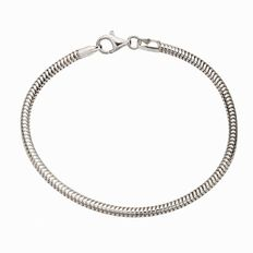 Ane Si Dora Sterling Silver Parrot Clasp Bracelet 19cm