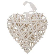 Willow Heart White 20cm