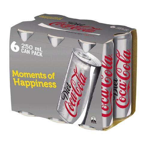 Coca Cola Diet Coke Cans  6 Pack 250ml