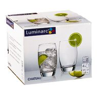 Luminarc Chateau High Ball Tumbler 4 Pack