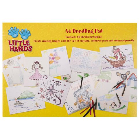 Little Hands Doodling Pad A4 60 Sheets