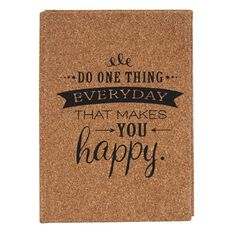 Stylo Cork Cover Notebook Do One Thing A6