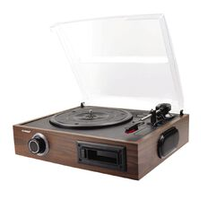 mbeat USB Wooden Turntable and Cassette Recorder TR08