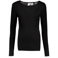 Basics Brand Women's Merino Crew Neck Top