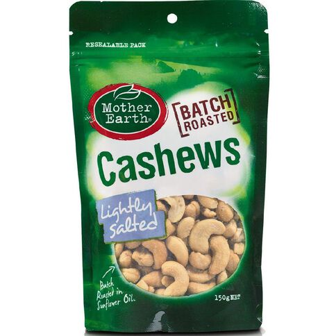 Mother Earth Cashews Roast Light Salted 150g