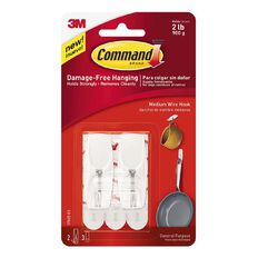 Command Wire Toggle Hooks Medium 2 Pack