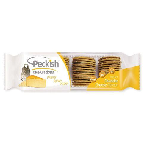 Peckish Thins Cheddar Cheese 100g