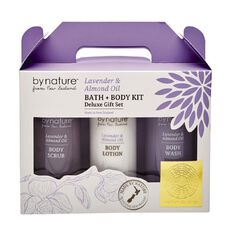 By Nature Lavender & Almond Oil Bath & Body Set 3 Piece