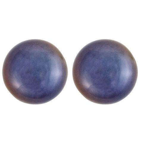 Sterling Silver Black Fresh Water Pearl Earrings