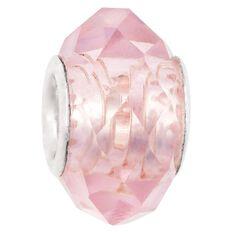 Ane Si Dora Sterling Silver Pink Glass Charm