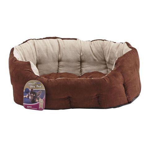Pet Team Bed Oval Chocolate Medium