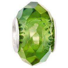 Ane Si Dora Sterling Silver Green Glass Charm