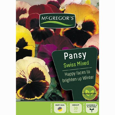 McGregor's Mixed Swiss Pansy Flower Seeds