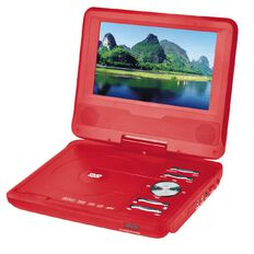 7 inch Portable DVD Player Red