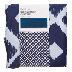 Living & Co Shower Curtain Ikat Blue