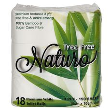 Naturo Bamboo Toilet Tissues 3-Ply 18 Pack