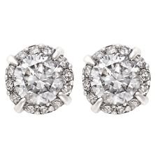 1/2 Carat of Diamonds 9ct Gold Diamond Earrings