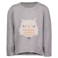 Hippo + Friends Toddler Girl Soft Lurex Jumper