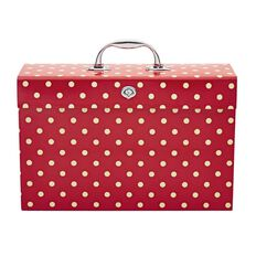 Stylo Expanding File Case Red