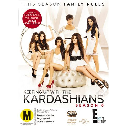 Keeping Up with The Kardashians Season 6 DVD 2Disc