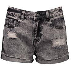 Garage High Waist Acid Denim Shorts
